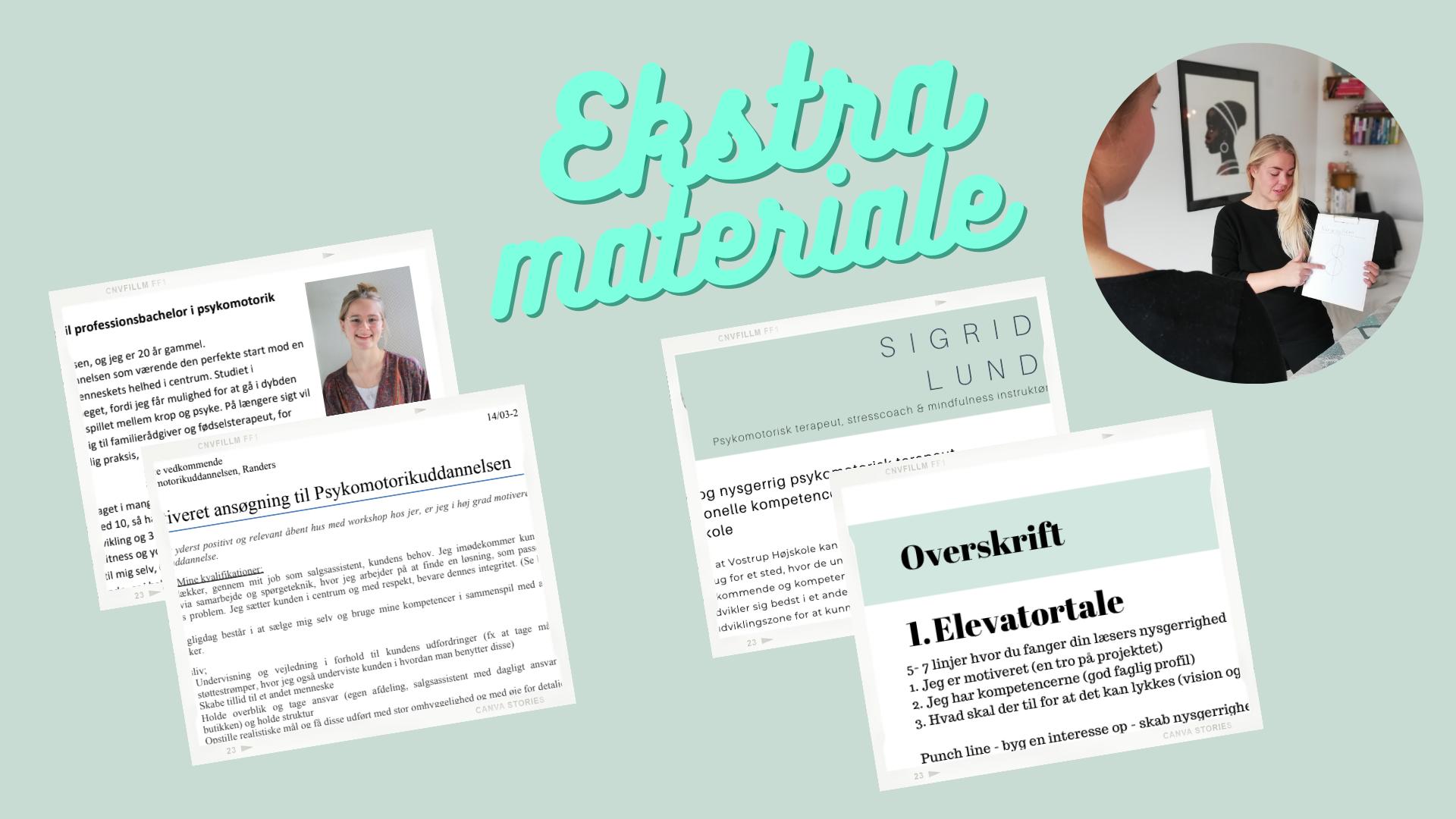 Ekstra materiale til online webinar